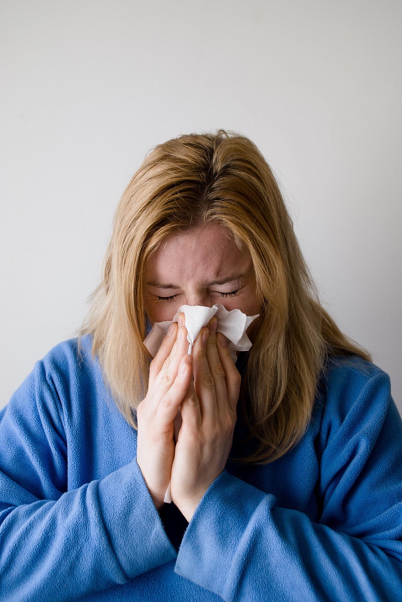nemocná žena